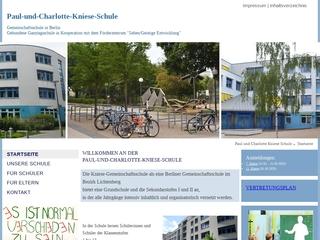Vorschaubild der Webseite von Paul-und-Charlotte-Kniese-Schule