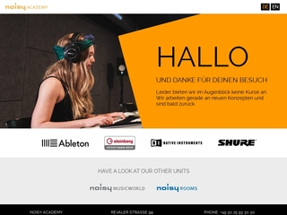 Vorschaubild der Webseite von noisy Academy