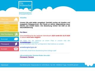 Vorschaubild der Webseite von Kindertagesstätte Wolkenschaf