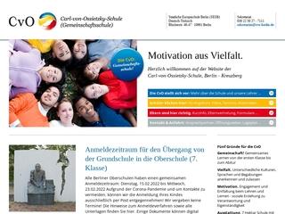 Vorschaubild der Webseite von Carl-von-Ossietzky-Schule
