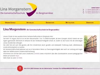 Vorschaubild der Webseite von Lina-Morgenstern-Schule