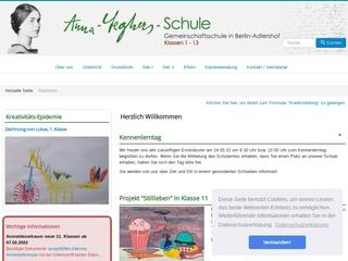 Vorschaubild der Webseite von Anna-Seghers-Schule