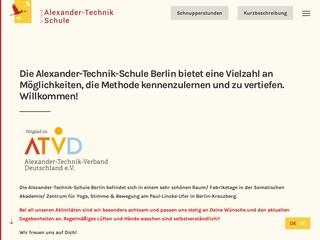 Vorschaubild der Webseite von Alexander-Technik-Schule