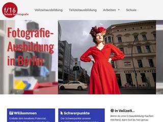 Vorschaubild der Webseite von f/16 Schule für Fotografie