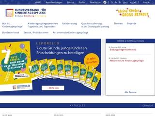 Vorschaubild der Webseite von Bundesverband für Kindertagespflege e. V.