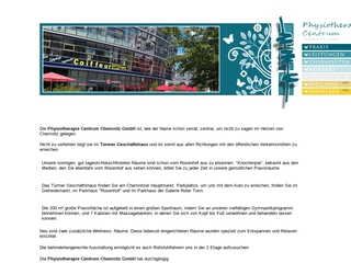 Vorschaubild der Webseite Physiotherapie Centrum GmbH