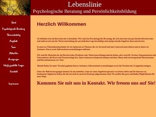 Vorschaubild der Webseite Lebenslinie - Psychologische Beratung und Persönlichkeitsentwicklung