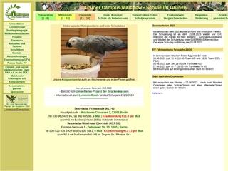 Vorschaubild der Webseite von Grüner Campus Malchow