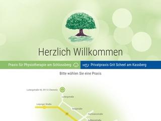 Vorschaubild der Webseite Praxis für Physiotherapie am Schlossberg