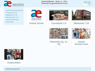 Vorschaubild der Webseite von Anna-Essinger-Gemeinschaftsschule