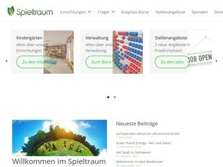 Vorschaubild der Webseite von Kindertagesstätte Spieltraum