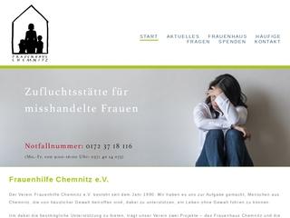 Vorschaubild der Webseite von Frauenhaus Chemnitz