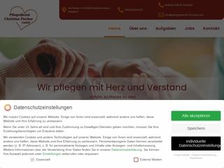 Vorschaubild der Webseite von Pflegedienst Christina Fischer GmbH