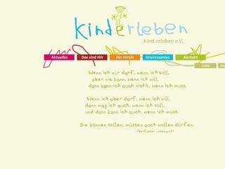 Vorschaubild der Webseite von Eltern-Initiativ-Kindertagesstätte Kinderleben - Kind erleben