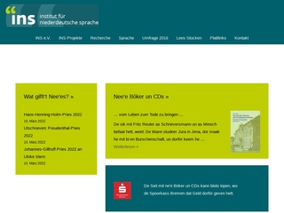 Vorschaubild der Webseite von Institut für niederdeutsche Sprache - Bibliothek