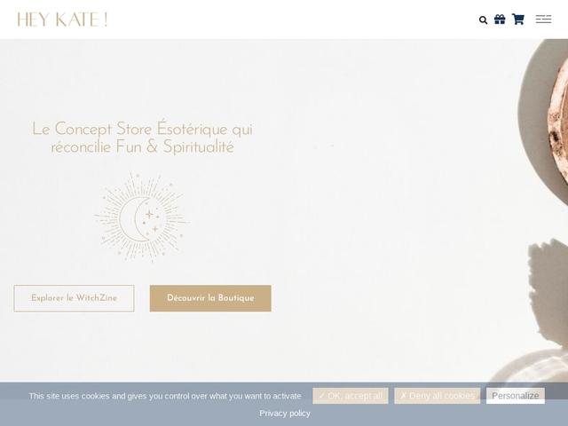Hey Kate ! Boutique ésotérique en ligne   Fun et Spiritualité