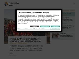 Vorschaubild der Webseite von LandesSportBund Sachsen-Anhalt e.V.