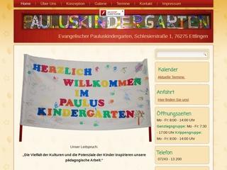 Vorschaubild der Webseite von Pauluskindergarten