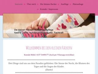 Vorschaubild der Webseite von Kindertagespflege Die kleinen Racker