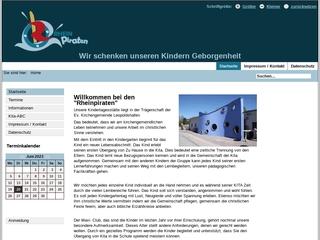 Vorschaubild der Webseite von Ev. Kindergarten Rheinpiraten