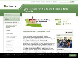 Vorschaubild der Webseite von Sächsische Blindenschule Chemnitz
