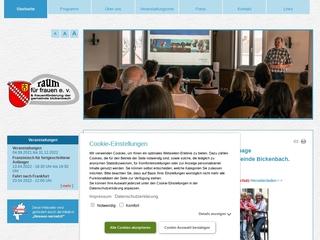 Vorschaubild der Webseite von Raum für Frauen bickenbach