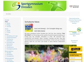 Vorschaubild der Webseite von Sportgymnasium Dresden