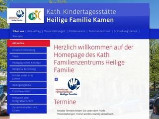 Vorschaubild der Webseite Kath. Kindertagesstätte Heilige Familie