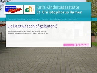 Vorschaubild der Webseite Kath. Kindertagesstätte St. Christopherus