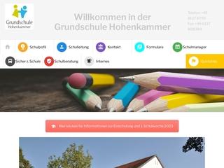 Vorschaubild der Webseite von Grundschule Hohenkammer