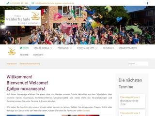 Vorschaubild der Webseite von Freie Waldorfschule Bremen-Osterholz - Mittelschulteil