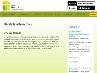Vorschaubild der Webseite von Georg-Weerth-Oberschule