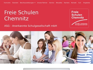 Vorschaubild der Webseite von Freie Schulen Chemnitz der ASG - Anerkannte Schulgesellschaft mbH