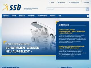 Vorschaubild der Webseite von Stadtsportbund  Brandenburg an der Havel e.V.