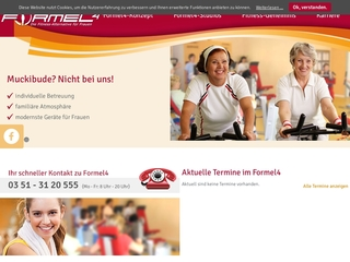 Vorschaubild der Webseite von Formel 4 Frauenfitness