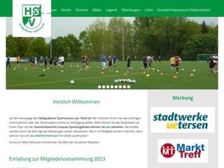 Vorschaubild der Webseite Heidgrabener Sportverein von 1949 e.V.