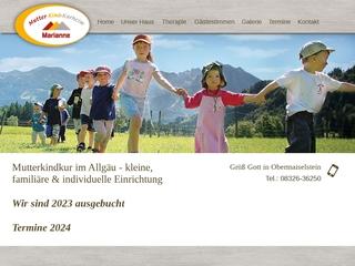 Vorschaubild der Webseite von Mutter-Kind-Kurheim Marianne