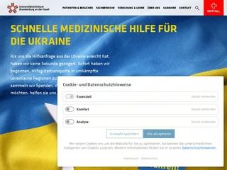 Vorschaubild der Webseite von Klinikum Brandenburg