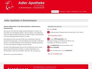 Vorschaubild der Webseite Adler-Apotheke