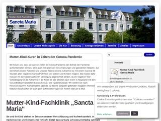 Vorschaubild der Webseite von Mutter-Kind-Klinik Sancta Maria