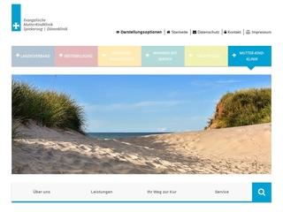 Vorschaubild der Webseite von Ev. Mutter-Kind-Klinik Spiekeroog