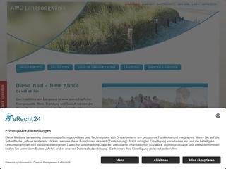Vorschaubild der Webseite von AWO LangeoogKlinik