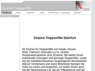 Vorschaubild der Webseite von EMPORE-Treppenlifte
