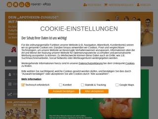 Vorschaubild der Webseite von Apotheke im GLOBUS