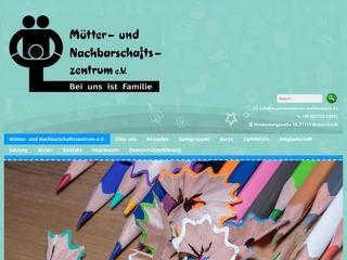 Vorschaubild der Webseite von Mütter- und Nachbarschaftszentrum Waldenbuch