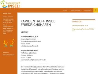 Vorschaubild der Webseite von Familientreff Insel e.V.