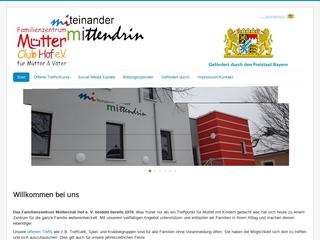 Vorschaubild der Webseite von Familienzentrum Mütterclub Hof e.V