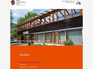 Vorschaubild der Webseite von Haus der Zukunft e.V. Bremen-Lüssum
