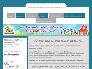 Vorschaubild der Webseite von Mütterzentrum Groß Gerau die Tausendfüßler e.V.