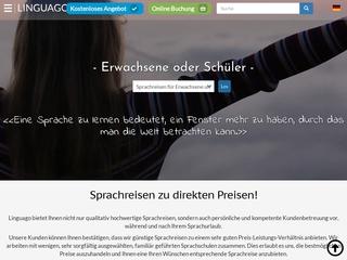 Vorschaubild der Webseite von Sprachdirekt Sprachreisen